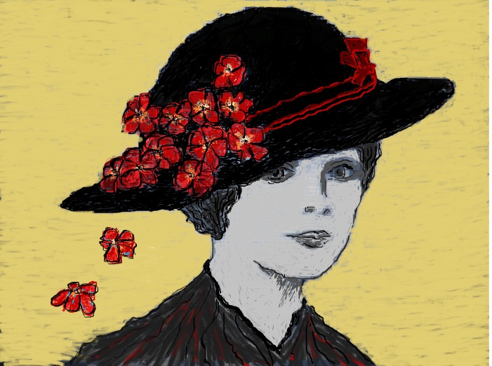 'Vera' By Della Foxglove July 2014 Vera Brittain commented about a day in December of 1914: 'That afternoon the news of the [German] raid impressed me less than my purchase of a little black moire and velvet hat trimmed with red roses. It was one of the prettiest hats that I have ever had, and also one of the most memorable, for I was to be indescribably happy while wearing it, yet in the end to tear off the roses in a gesture of impotent despair'. [Testament of Youth, Virago 2008:92]